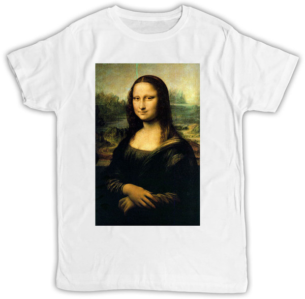 MONA LISA POSTER IDEAL REGALO CUMPLEAÑOS PRESENTE COOL RETRO FUNNY T SHIRT Envío gratis divertido Unisex camiseta top