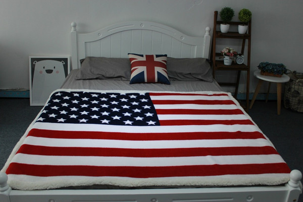 DREAM MARIN Manufacturers British union jack American flag London New York flanged large size double blanket lamb blanket