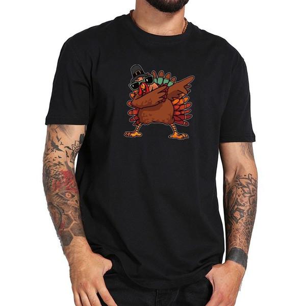 Dabbing Turkey Cool Pose T-shirt Thanks Giving Day And Christmas Gift Men jersey Print t-shirt Brand shirts jeans Print