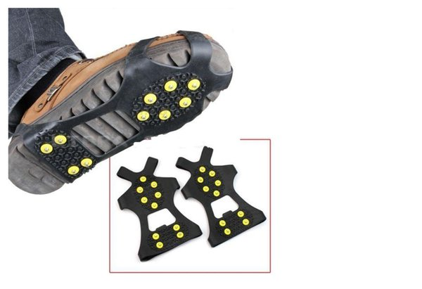 10 Steel Studs Ice Cleats Anti-Skid Snow Ice Climbing Shoe Spikes Grips Crampons Cleats Overshoes Climbing Gripper Ice Walking Cleat 20pcs
