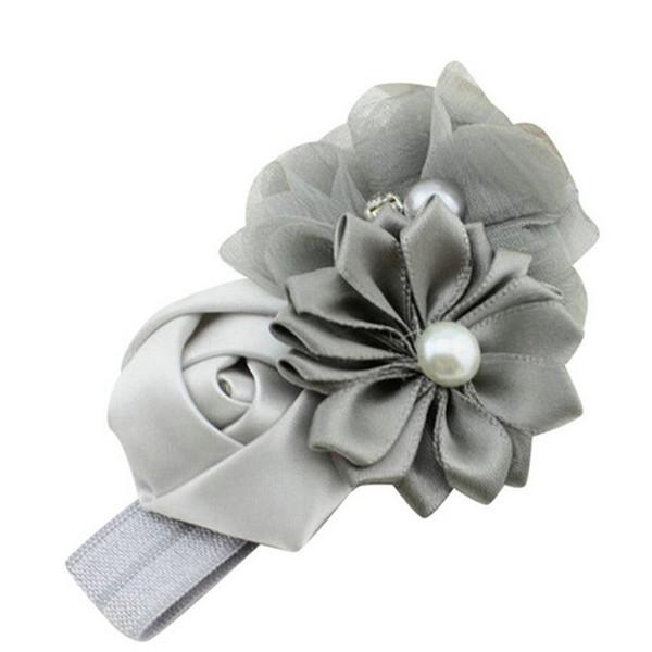 2019 Baby Girl Flower Pearl Flower Hair Band Headband Hairband Hair Accessories cotton hair Baby Headwear photography