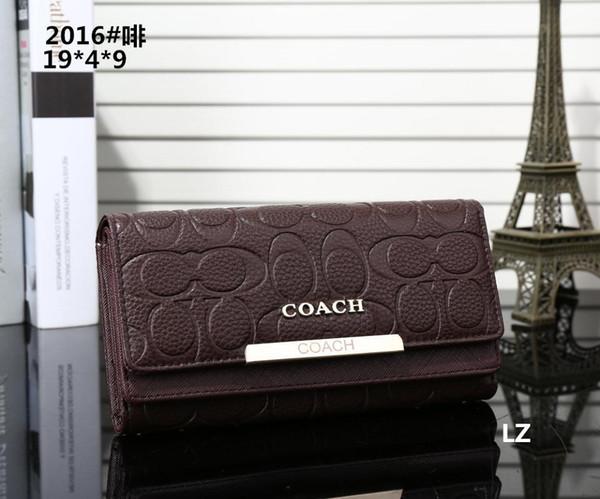 Hot! 2019 Wholesale Famous Brand Fashion Single Zipper Cheap Luxury Designer Women Pu Leather Wallet Lady Ladies Long Purse M13