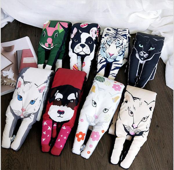 La nouvelle écharpe animale pour la collection automne / hiver des femmes est livré avec un foulard chaud épais