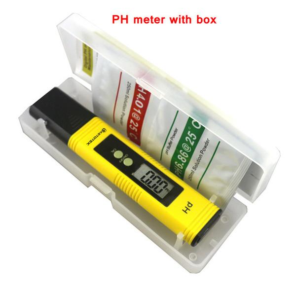 PH-mètre avec la boîte