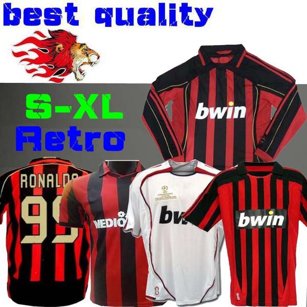 Long sleeve 90 91 Retro shirts home 2008 Gullit SOCCER JERSEY 1990 1991 Maldini Baresi Van Basten football RONALDO KAKA Inzaghi 06 07 MILAN