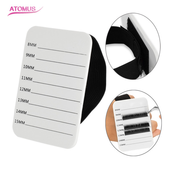 Eyelash Holder Blank Board False Individual Eyelash Extension Tool Handy Hand Hold Pallet Tray Strip Board Without False Eyelash