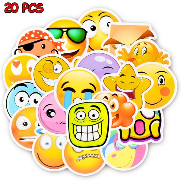 Wasserdichte Lächeln Gesicht Aufkleber Lustige Aufkleber Spielzeug für Kinder DIY Hause Laptop Gepäck Scrapbooking Flasche Motorrad Dekoration Auto Aufkleber