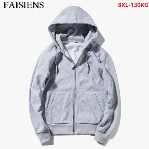 Uomo con cappuccio Pullover zip hoodie Sweatjacke Giacca in Felpa di dimensioni 3xl-8xl