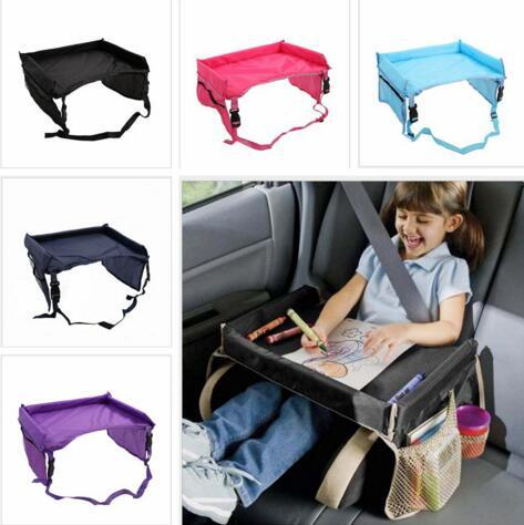 best selling Baby Table Cover Snack Play Tray Buggy Snack Pushchair Infant Waterproof Table Cover Toddlers Car Seat Cover Toys Storage Organizer LT07