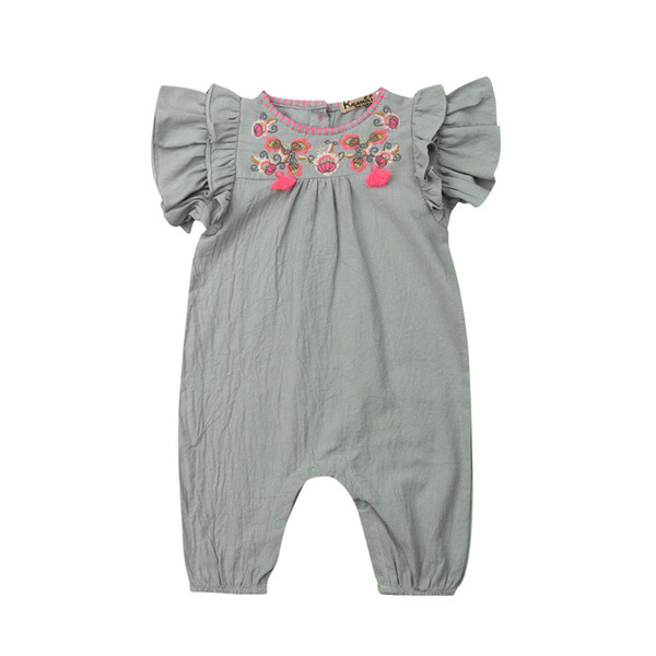 Princess Baby Girl Infant Floral Romper Jumpsuit Outfits Clothes Toddler Kids Girls Summer Rompers Overalls Sunsuit Clothing