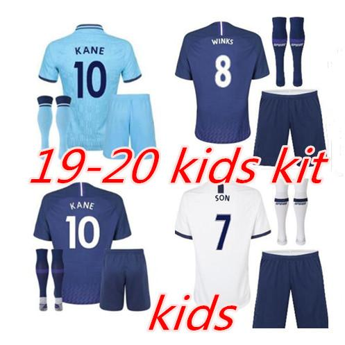 19 20 Spurs Kids Home Soccer Jersey Kits 2019 2020 Kane Son Alderweireld Eriksen Dele Home Away Child Football Shirt Black Buy At The Price Of 16 10 In Dhgate Com Imall Com
