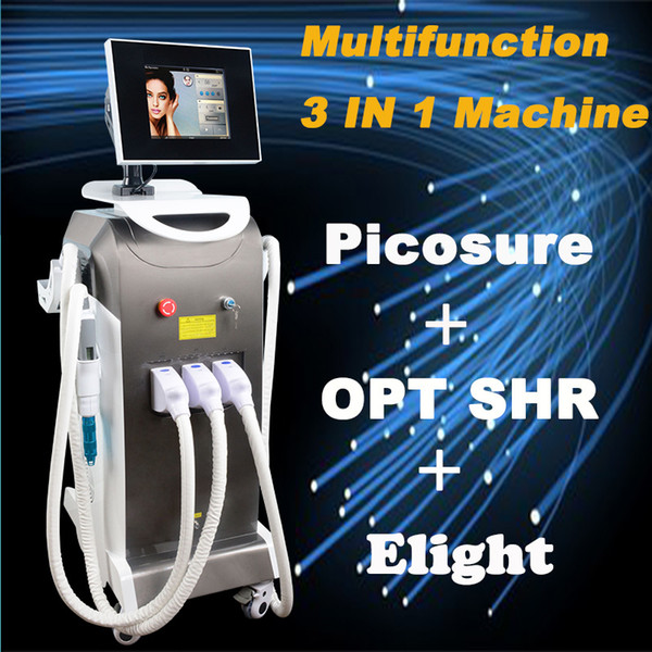 New Multifunction picosure laser opt laser elight machine ipl hair removal laser tattoo removal beauty equipment