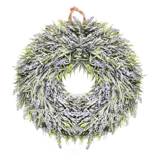 HobbyLane Thinkmax Door hanging wall Window decoration Lavender Flower wreath Easter Holiday Festive Decor