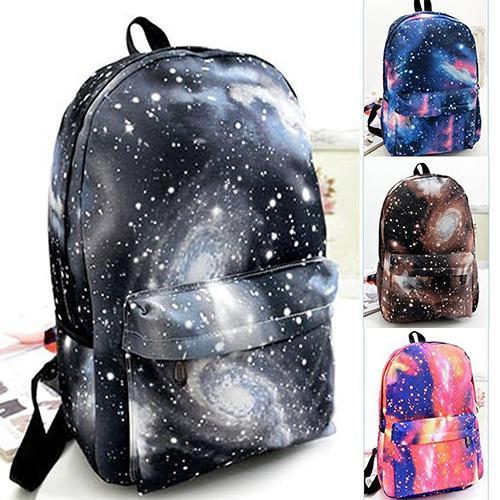 Unisex Galaxy Space Backpack Travel Rucksack Canvas Book Storage School Bag