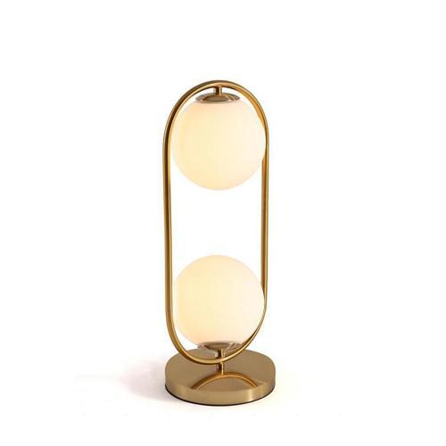 Nordic Art déco d'or du corps Lampe de table plaque de base en métal moderne Minimaliste verre givré Led lampe de bureau pour étude / LITS