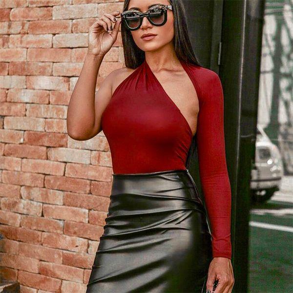 ليوبارد ربيع جديد أزياء المرأة طباعة بلوزة طويلة الأكمام حقق الثعبان واحد الكتف قميص خمر النساء قمصان رخيصة