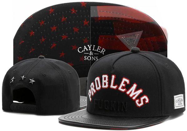 2019 wholesale cayler sons snapback hats casquette bone Problems Fuckin San Francisco cap snap back dad hat Cayler&Sons ball Adjustable cap