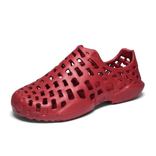 construcción racional nuevo estilo de comprando ahora Compre Moda De Verano Sandalias De Playa Mujeres Zapatos De Agua Mujer  Zuecos Hollow Pareja Sandalias Mujer Croc Zapatos De Playa Tamaño 36 45 ...