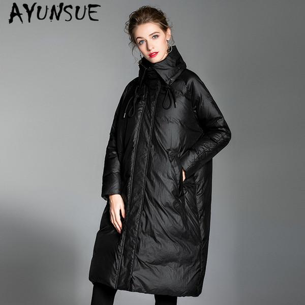 AYUNSUE Plus Size inverno cappotto femminile 2019 giù donne giacca coreana caldo anatra lungo piumino signore parka Hiver 20.186.002