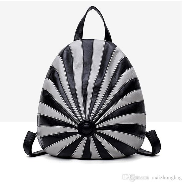 2d Geometric New Designer Backpack Pu Leather Women Fashion School Backpack Travel Bags New Vogue Nice Fashion