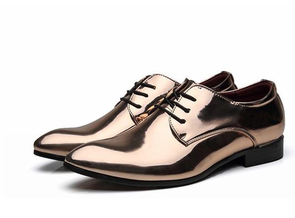 Moda Erkekler pu Deri Bow Gelinlik ayakkabıları Erkekler Ziyafet Loafers Artı boyutu Erkek Flats ayakkabı 38-48