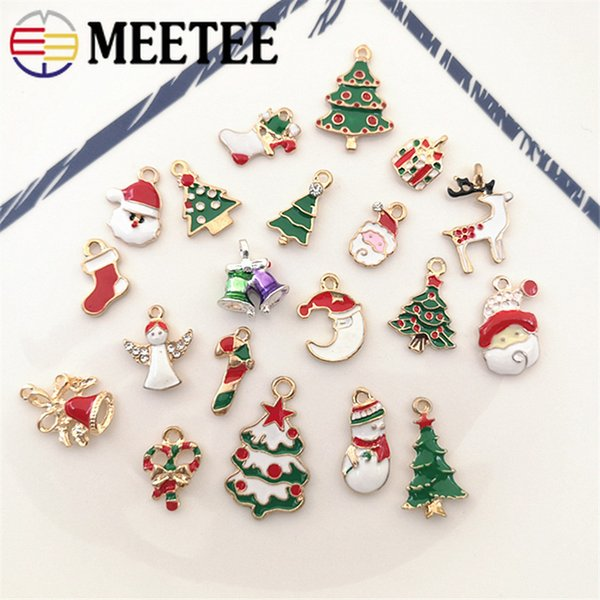 Meetee Christmas Festival Alloy Pendant DIY Clothing Zipper Decoration Handmade Jewelry Sewing Craft Accessories AP514