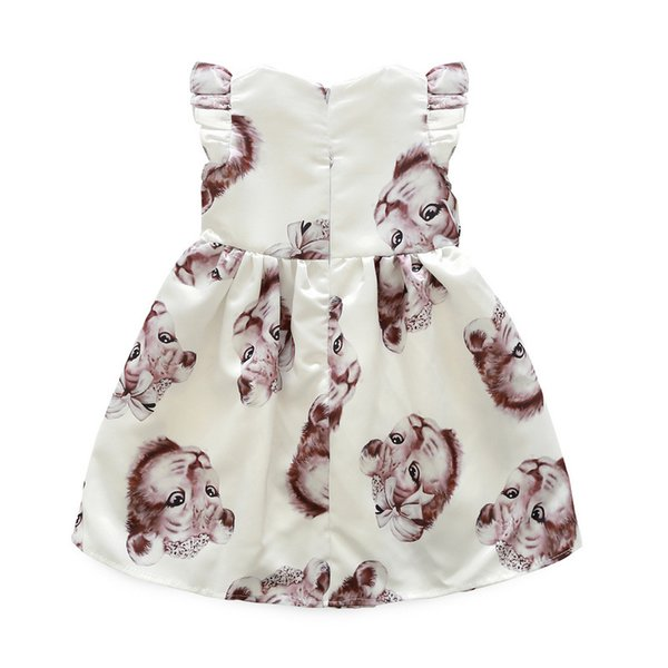 Latest Infant Baby Children's wear Good quality Casual cotton Cat linen summer baby girl dresses style baby With frock designs