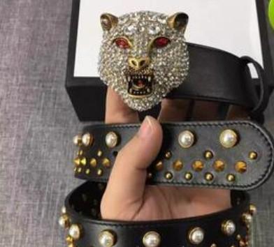 2019 Pearl buckle 2.0 3.4 3.8 big belt designer 100% leather ladies high quality new women's belt free shippinge0af#