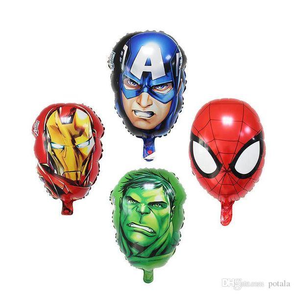 Avengers Heros Luftballons Captain America Spiderman Ironman Hulk Folie Ballons Helium Ballons Geburtstag Urlaub Dekor Aluminium Beschichtung Potala