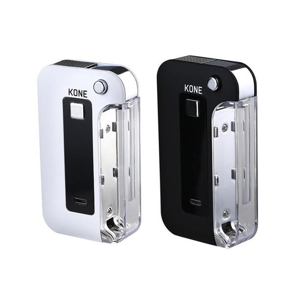LTQ Vapor KONE Battery Box Mod 900 mAh Función de precalentamiento Voltaje variable USB Carga 510 cartuchos de Vape Batería 100% auténtica