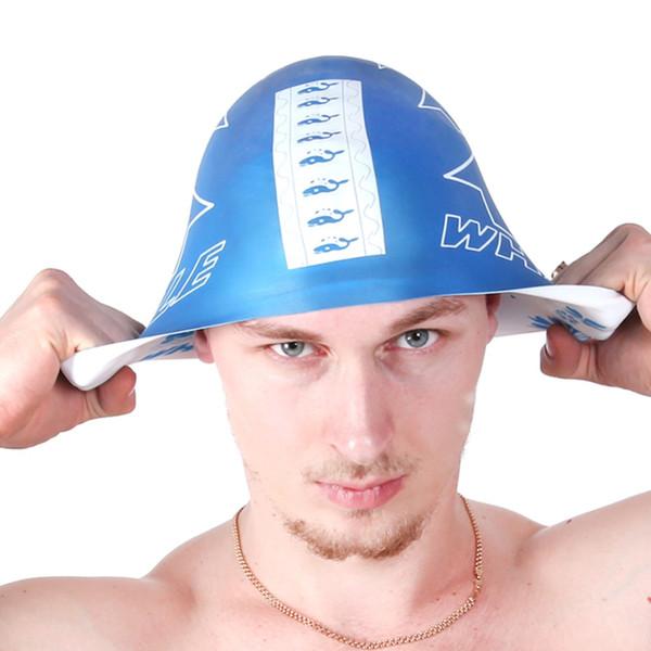 2017 women men Adult swimming cap surf hat Protect Ears Swim Pool Shower cap Unisex swim Use With Both Sides CAP-800