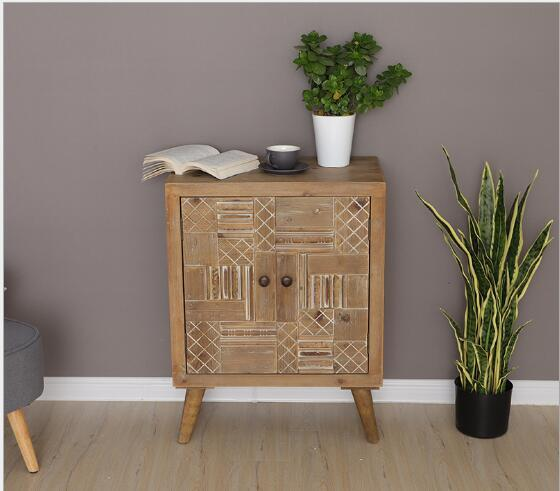 2019 American Rural Solid Wood Passage Cabinet Living Room Storage Cabinet  Carved Double Door Home Storage Cabinet From Meow_householdes, $397.99   ...