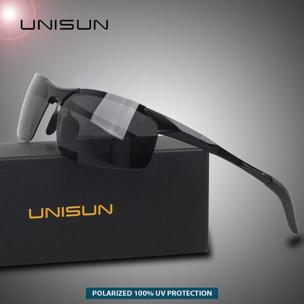 UNISUN Luftfahrt Aluminium Magnesium Fahren Polarisierte Sonnenbrille Männer Frauen Mode Sport Brillen Sonnenbrillen Männlichen Shades Gafas