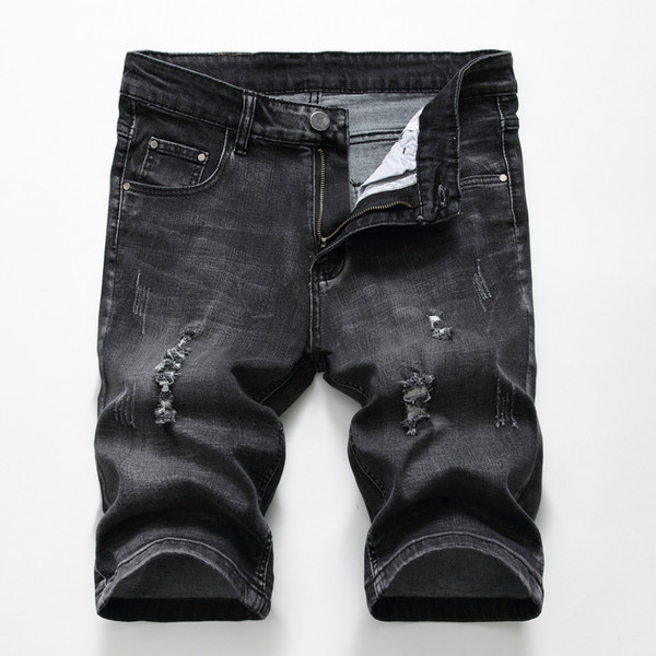 Men's Denim Shorts Jeans Good Quality Summer Jeans Men Cotton Solid Straight Short Male Casual New Brand
