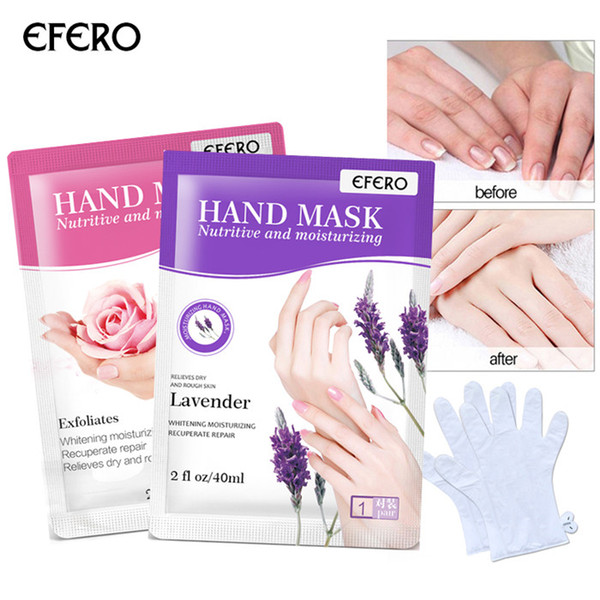 best selling EFERO Moisturizing Hand Mask Gloves Exfoliating Hand Patch Spa Gloves Tool Beauty Nourish Skin Care 6pairs