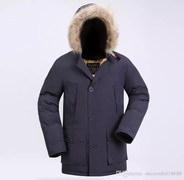 2019 Latest Fashion Woolrich Brand Men's Arctic Anorak Down jackets Man Winter goose down jacket 90% Outdoor Thick Parka Coat warm outwear