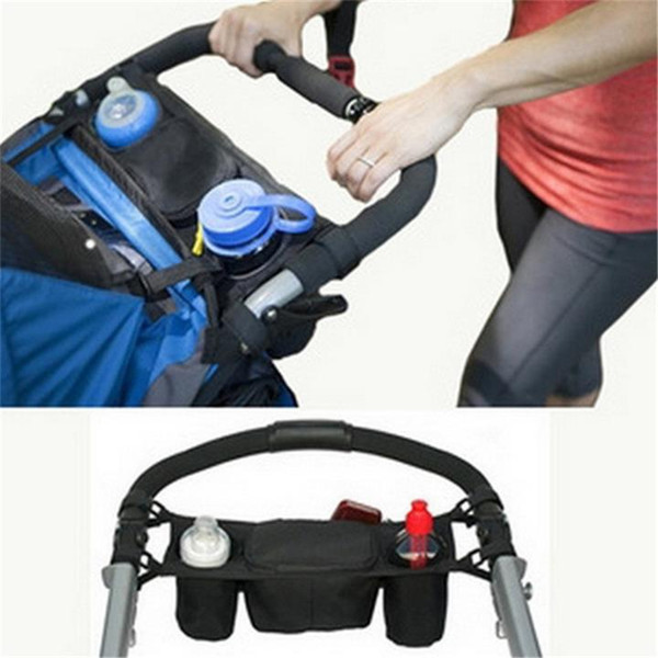 best selling Baby Stroller Organizer Baby Prams Carriage Bottle Cup Holder Bag for Pram By Baby Stroller Accessories Wheelchair Bag