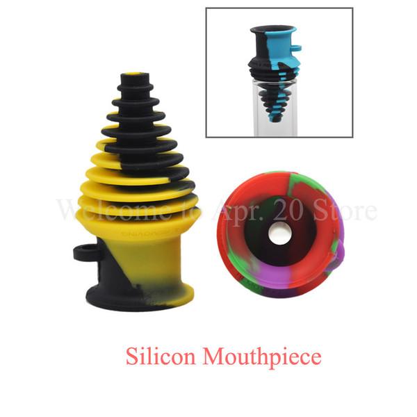 Силиконовый мундштук для стеклянных бонгов Красочные силиконовые насадки Адаптируемый Бесплатная доставка SP026