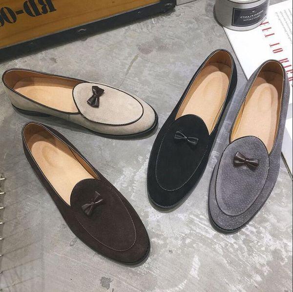 Luxury Men Shoes Black Loafers Leather Men 's Casual Shoes Comfortable Spring/Autumn Fashion Breathable Men Shoes 1A1