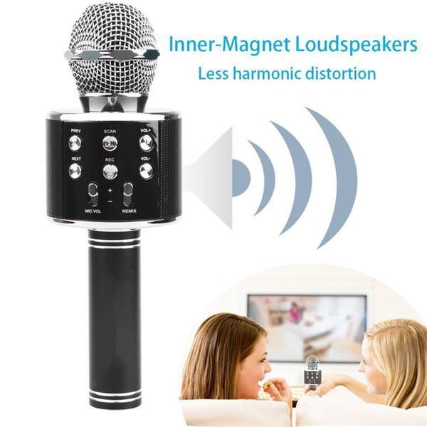 KLOK Microphone Bluetooth Speaker Party Bluetooth Microphone Home Karaoke Wireless Speaker Loudspeaker for Android iPhone iPad Computer KTV