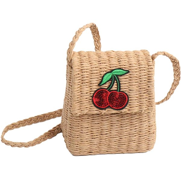 NEW-Cute Small Crossbody Straw Bag For Women Girls,Summer Woven Messenger Shoulder Bags Mini Beach Purse Color: Khaki