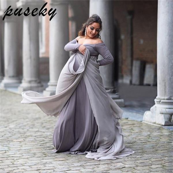 Compre Puseky Maternidad Fotografía Apoya Los Vestidos Para Embarazadas Ropa De Mujer Vestidos De Maternidad Para La Sesión Fotográfica Del Embarazo A