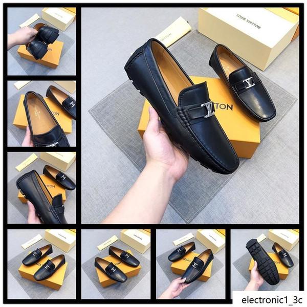 18SS NOuvELLE Taille 38-45 Glands Chaussures Casual cuir véritable luxe en daim noir hommes Mocassins Mocassins Pantoufles Chaussures robe de mariée formelle