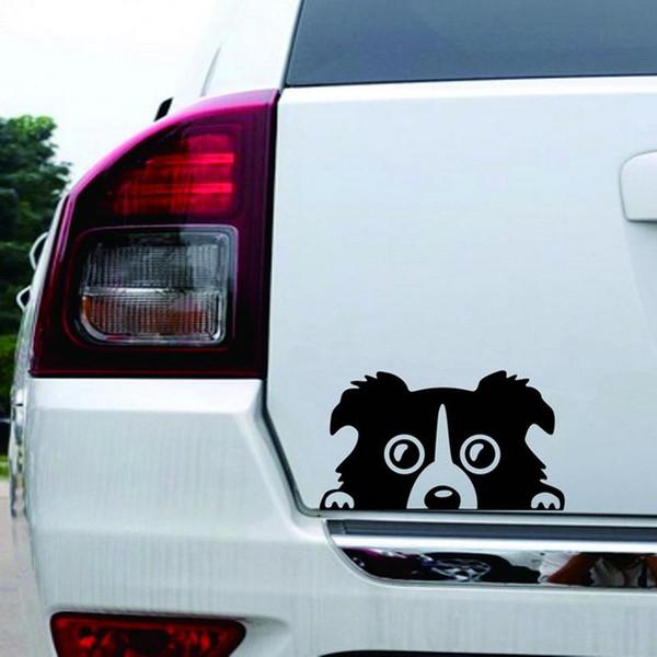 Border Collie DOG Personalidade Reflexivo Vidro Traseiro Pet Sticker Design Decalques Etiqueta Do Carro Carro-styling Carros Auto Acessórios