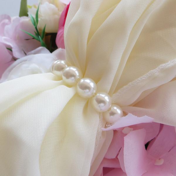Anelli di tovagliolo di perle d'imitazione con elastico per matrimoni e hotel con diamante decorazione morbida per anelli di tovagliolo
