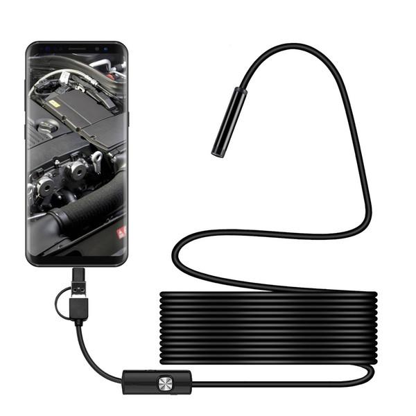 7mm Android teléfono móvil usb tres en uno endoscopio industrial, amplificador de endoscopio de tubo, microscopio electrónico, se puede personalizar