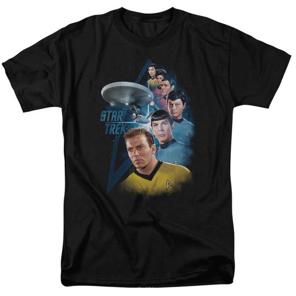 Yıldızlar Arasında Star Trek TV Show Tişört Boyutları S-3X YENI 100% pamuk rahat baskı kısa kollu erkek T gömlek o-boyun rahat örme