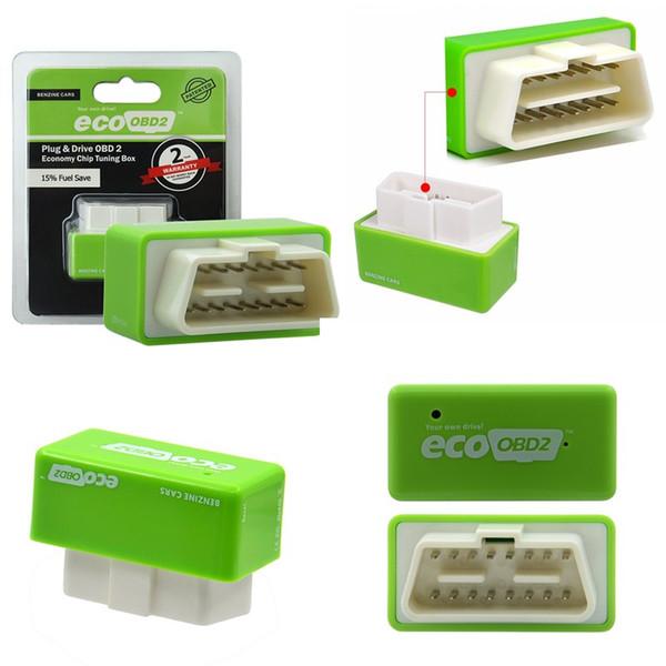 Driver Nitro OBD2 EcoOBD2 ECU Chip Tuning Box Plug for BENZINE Car For Cars 15% Fuel Save More Power dropshipping