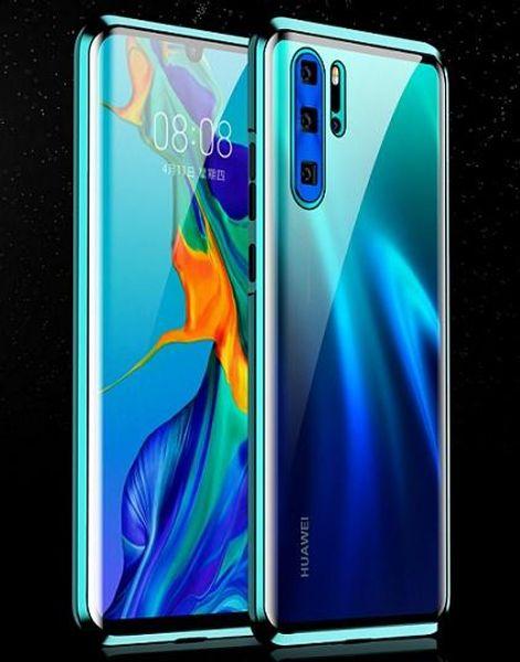 diseño de lujo Huawei teléfono celular casos mate20 Pro Shell p30 pro todo incluido ultra-delgada de doble cara de cristal transparente cubrir rey magnética
