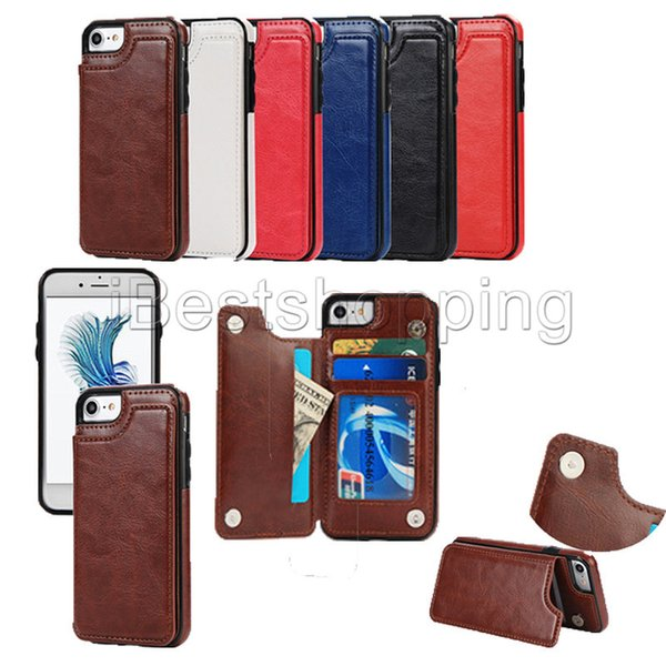 For iphone x max xr x 8 7 wallet leather phone ca e card lot lim multi functional folio tand hockproof for am ung 10 plu